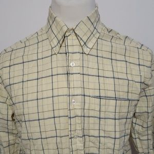 Nautica Plaid Long Sleeve Button Front Shirt